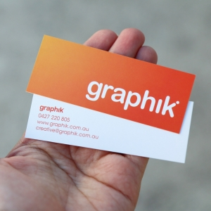 Graphik business card design Newcastle NSW graphic design