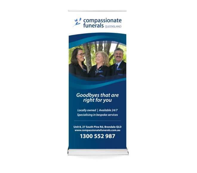 Pull up banner design graphic design Newcastle NSW