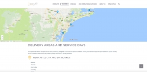Gourmet Food Distributors website design Newcastle NSW web design and website development