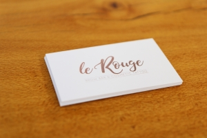Le Rouge business card design Newcastle NSW graphic design