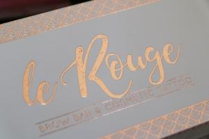 Le Rouge logo design graphic design Newcastle NSW