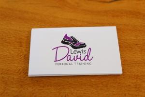 Lewis David PT business card design Newcastle NSW graphic design