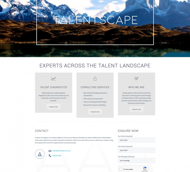 Talentscape HR website design Newcastle NSW web design and website development