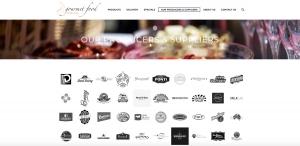 Gourmet Food Distributors website design website development in Newcastle NSW