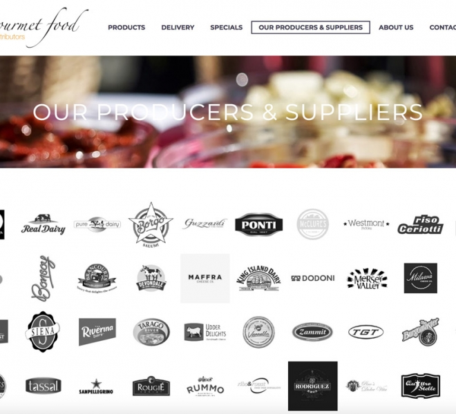 Gourmet Food Distributors website design website development in Newcastle NSW