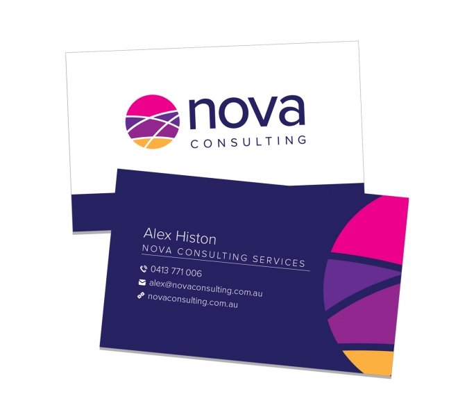 Graphic Design Business Card Design for Nova Consulting Newcastle NSW