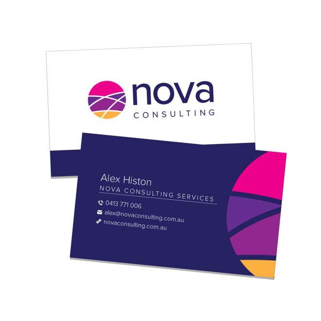 Graphic Design Business Card Design for Nova Consulting Newcastle NSW