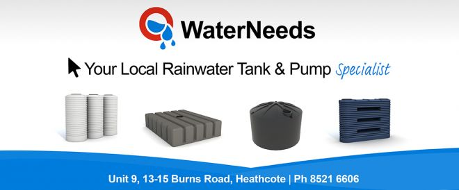 Graphic Design for water tanks Web Banner Design for Sydney Water Tank supplier WaterNeeds