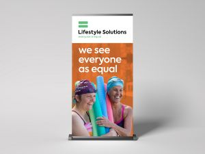 Pull Up Banner Design Lifestyle Solutions Graphic Design Newcastle