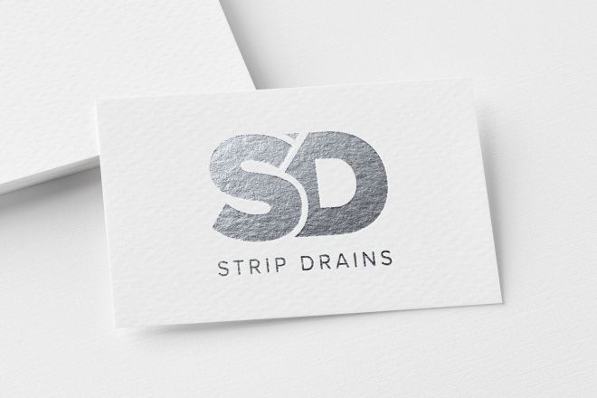 Strip Drains logo design